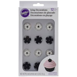 Wilton Products . WIL BLK. WHT. FLOWER ICING DEC