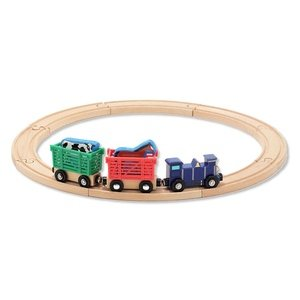Melissa & Doug . M&D FARM ANIMAL TRAIN SET