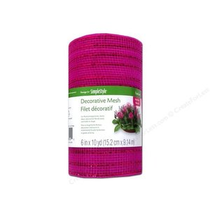 "Floracraft . FLC MESH 6"""" METALLIC HOT PINK"