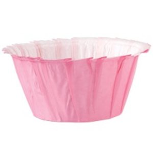 Wilton Products . WIL PINK RUFFLED BAKING CUPS