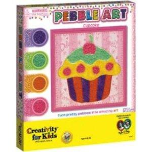 Creativity for kids . CFK PEBBLE ART CUPCAKE