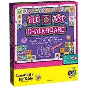 Creativity for kids . CFK TILE ART CHALKBOARD
