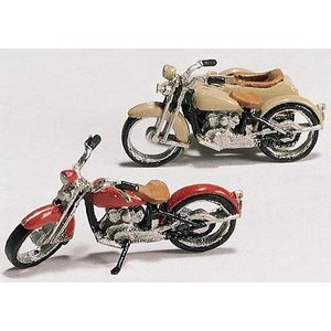 Woodland Scenics . WOO HO MOTORCYCLES & SIDECAR