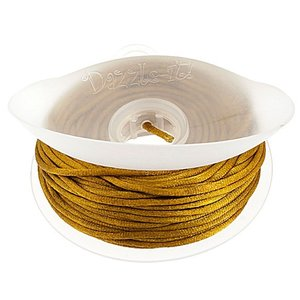 John Bead Corporation . JBC RATTAIL CORD 2MM GOLD BRONZE