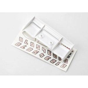 Traxxas Corp . TRA WING  1/16 E-REVO WHITE/DEC