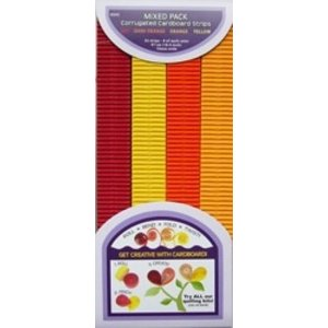 Quilled Creations . QUI RD-DK/YLLW ORNG CORRG STRIP