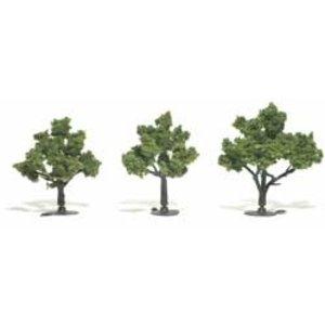 "Woodland Scenics . WOO LIGHT GREEN TREE 3""""-4"""""
