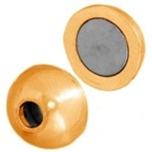 John Bead Corporation . JBC MAGN CLASP BALL 11MM GOLD