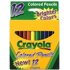 Crayola . CRY COLORED PENCIL 1/2 STICK 12