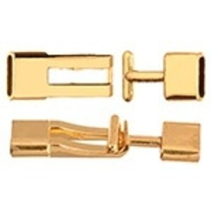 John Bead Corporation . JBC TOGGLE FLAT 47.5X12.5MM GOLD
