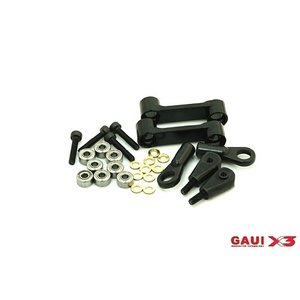 Gaui . GAI GAUI X3 CNC WSHOUT ARM ASMBLY W/HRDWRW BLK