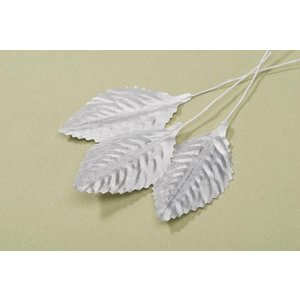 Victoria Lynn Collection . VLC 2 1/2 SINGLE ROSELEAF SILVER