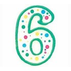 Wilton Products . WIL CANDLE NUMERAL #6 GREEN 3