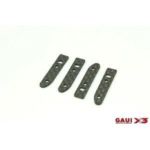 Gaui . GAI GAUI X3 Carbon Fiber Canopy Retainer Set 4pcs