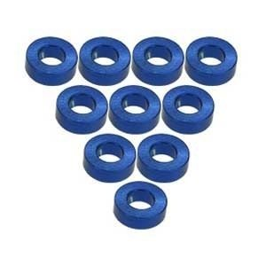 3 Racing . 3RC Alum M3 Flat Washer 2.0mm Blue