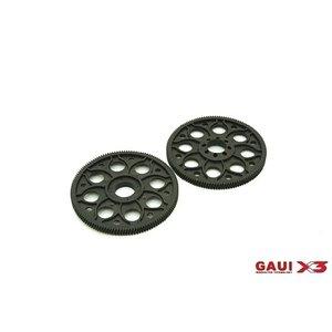 Gaui . GAI GAUI X3 131T Main Drive Gear Set 2pcs