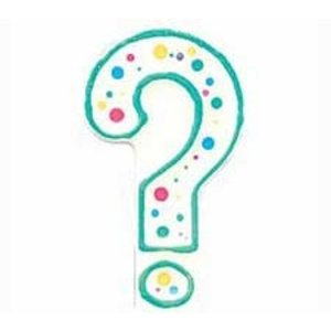Wilton Products . WIL CANDLE QUESTION MARK GREEN 3