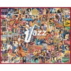 White Mountain Puzzles . WMP JAZZ COLLAGE OF MUSICIANS