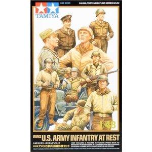 Tamiya America Inc. . TAM 1/48 WW2 US INFANTRY AT REST