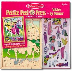 Melissa & Doug . M&D M&D PEEL&PRESS PRINCESS CASTLE