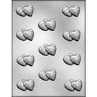 """CK Products . CKP 1"""" DOUBLE HEART CHOC MOLD"""