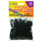 Pepperell . PEP RUBBER BAND LOOPS 500CT BLACK