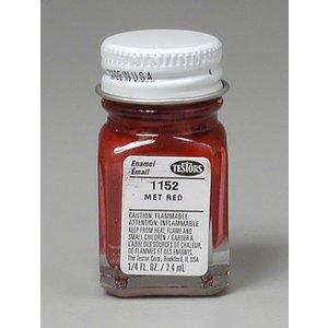 Testors Corp. . TES ENAMEL 1/4OZ METALLIC RED