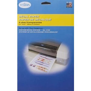 Testors Corp. . TES CLEAR DECAL PAPER