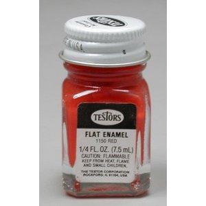 Testors Corp. . TES Enamel 1/4oz Flat Red
