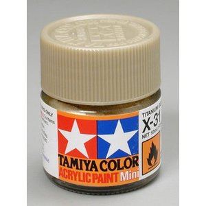 Tamiya America Inc. . TAM X-31 Met Titanium Gold Acrylic