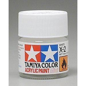 Tamiya America Inc. . TAM X-2 WHITE ACRYLIC MINI