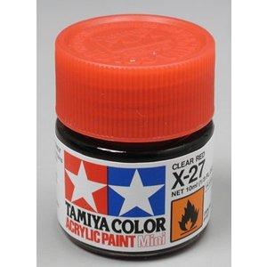 Tamiya America Inc. . TAM X-27 CLEAR RED ACRYLIC MINI