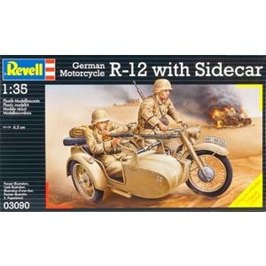 Revell of Germany . RVL 1/35 GER MOTORCYCLE R-12