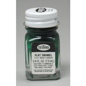 Testors Corp. . TES FLAT ENAMEL 1/4OZ GREEN