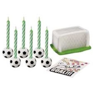 Wilton Products . WIL CANDLE SET SOCCER DECAL
