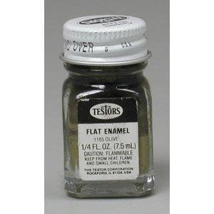 Testors Corp. . TES FLAT ENAMEL 1/4OZ OLIVE