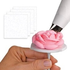 Wilton Products . WIL PRE-CUT ICING FLOWER SQUARES