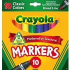 Crayola . CRY CLASSIC BROAD MARKERS 10PC