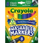 Crayola . CRY WASHABLE CLASSIC BROAD 8PC