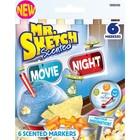 Sanford/Newll/Berol . SAF MR. SKETCH MOVIE NIGHT 6 COLOR SET