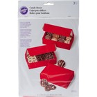 Wilton Products . WIL BOXES CANDY 1/2 LB RED