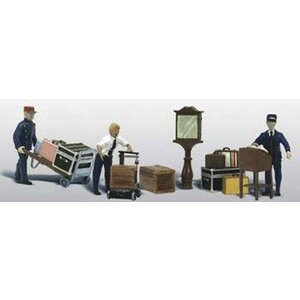 Woodland Scenics . WOO N DEPOT WORKERS & ACCESSORIES