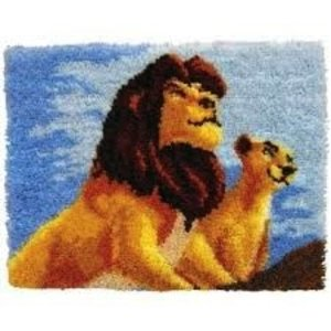 MCG Textiles . MCG LION KING LATCH HOOK