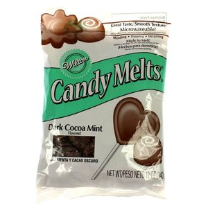 Wilton Products . WIL CANDY MELTS DK COCOA MINT