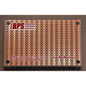 BPS . BPS PROTOBOARD 2 HOLE STRIP 80X50MM 1 SIDED