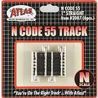 "Atlas Model Railroad Co . ATL CODE 55 1"" STRAIGHT TRACK N"
