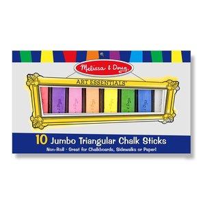 Melissa & Doug . M&D 10 JUMBO TRIANGLE CHALK STICKS