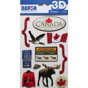 Daron Worldwide Trading . DRN 3D CANADA STICKER SET