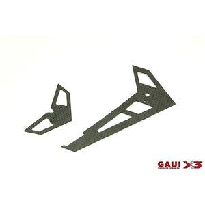 Gaui . GAI GAUI X3 CF FIN & TAIL