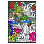 Stuff To Color . SFC 22X32.5 Wall Poster Hidden Cottage